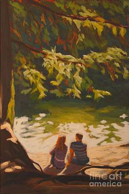Poster featuring the painting Bright Angel Moment by Janet McDonald