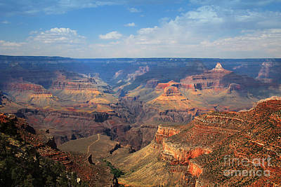 Poster featuring the photograph Bright Angel Trail Grand Canyon National Park by Jemmy Archer