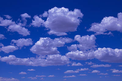 Bright Clouds Poster