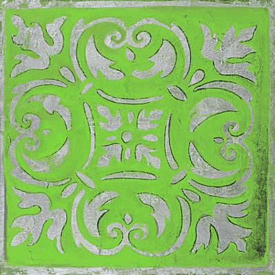 Bright Green Mosaic Poster