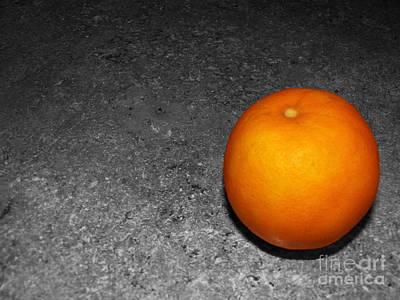 Bright Orange Poster by Ashiley Slaymaker
