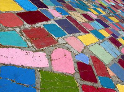 Bright Paving Stones Poster
