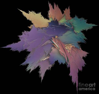 Bright Spray Of Leaves Bouquet Poster