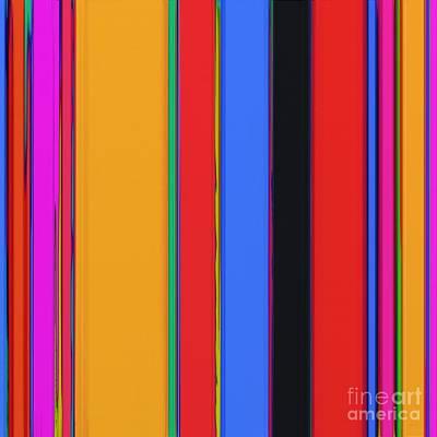 Bright Stripes Poster