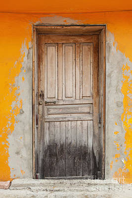 Brightly Colored Door And Wall Poster
