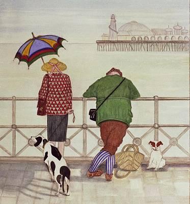 Brighton Pier, 1986 Watercolour On Paper Poster by Gillian Lawson