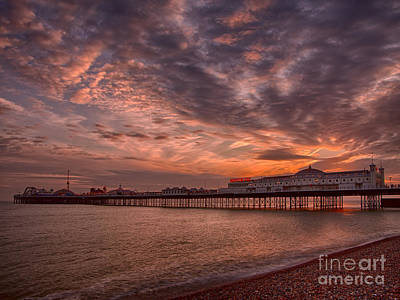 Brighton Pier Poster by Pete Reynolds