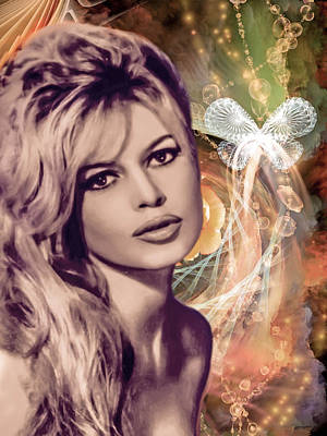 Brigitte Bardot Pop Art Poster by Catherine Arnas