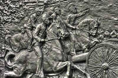 Bringing Up The Battery Detail-d 6th New York Independent Battery Horse Artillery Gettysburg Autumn Poster by Michael Mazaika