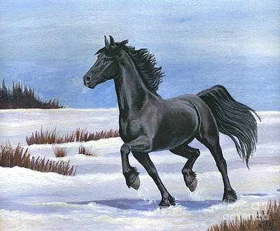 Poster featuring the painting Brisk Trot by Sheri Gordon