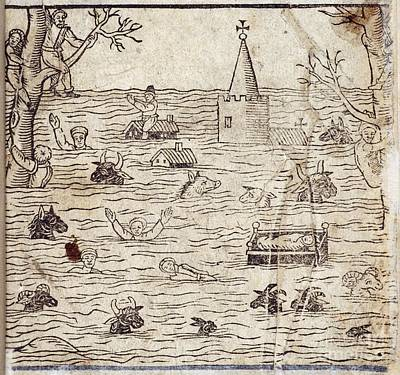 Bristol Channel Floods, 1607 Poster by British Library