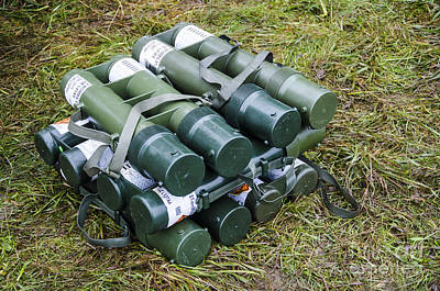 British Army 81mm Mortar Rounds Poster