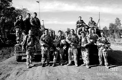 British Army Command Group Photo Poster by Andrew Chittock