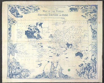 British Empire Map Poster