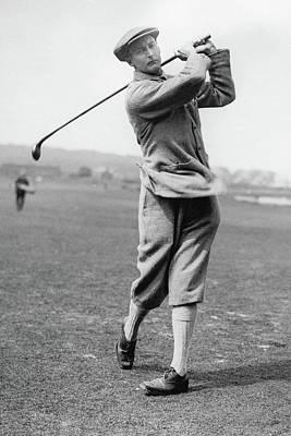 British Golfer Sir Ernest Holderness Swinging Poster by Artist Unknown