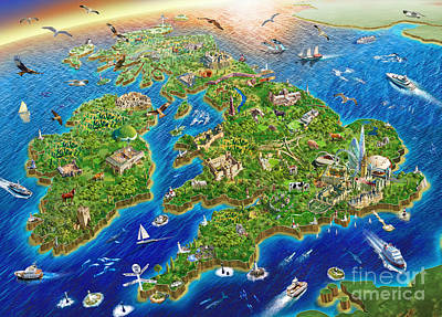 British Isles Poster by Adrian Chesterman