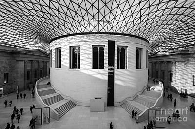 Poster featuring the photograph British Museum Black And White by Matt Malloy