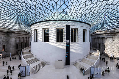 Poster featuring the photograph British Museum Color by Matt Malloy
