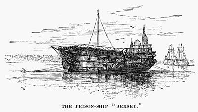 British Prison Ship, 1770s Poster by Granger