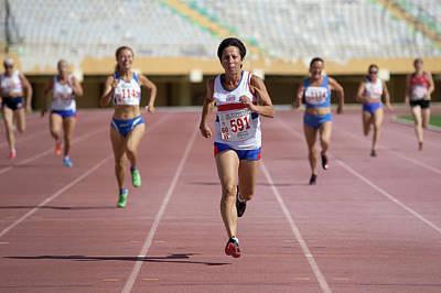 British Senior Athlete Leads The Race Poster