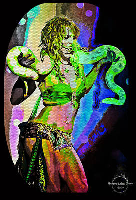 Britney Neon Dancer Poster by Absinthe Art By Michelle LeAnn Scott