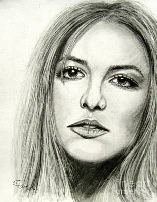 Poster featuring the drawing Britney Spears by Patrice Torrillo