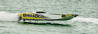 Broadco Race Boat Poster