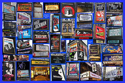 Broadway Collage Poster by Steven Spak