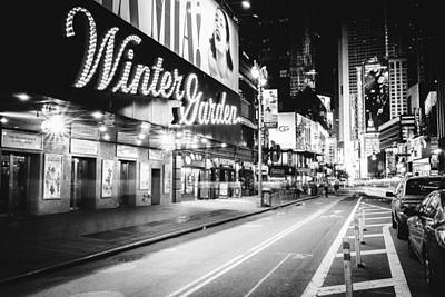 Broadway Theater - Night - New York City Poster