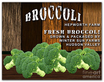Broccoli Farm Poster by Marvin Blaine