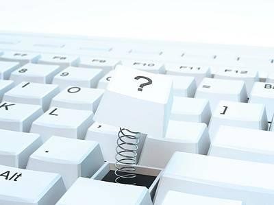 Broken Computer Keyboard Poster by Andrzej Wojcicki