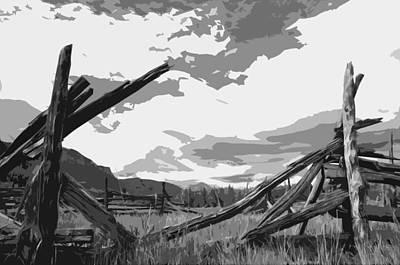 Broken Fence Poster by Jack McAward
