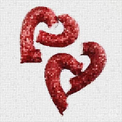 Broken Heart Mosaic Poster