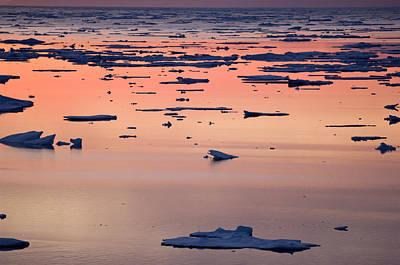 Broken Sea Ice At Sunset, Kong Oscar Poster