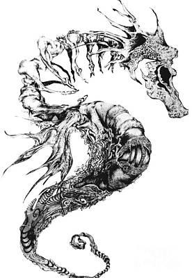 Broken Seahorse Poster