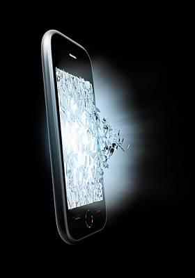 Broken Smartphone Screen Poster