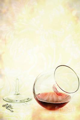 Broken Wine Glass Poster by Stephanie Frey