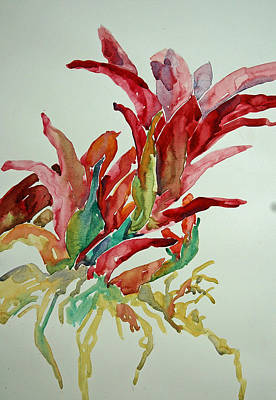 Poster featuring the painting Bromeliad #2 by Roger Parent