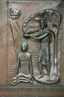 Bronze Relief Of Jesus' Healing Power Poster by Dave Bartruff