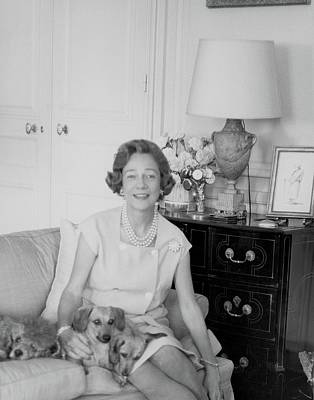 Brooke Astor With Dogs Poster