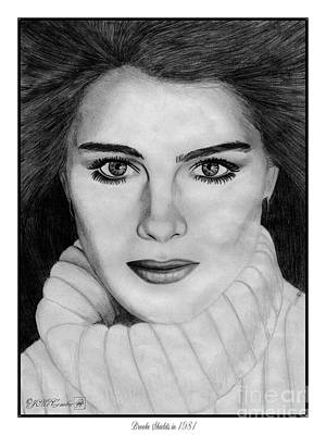 Brooke Shields Poster by J McCombie