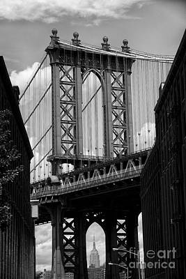 Manhattan Bridge Nyc Poster by Peter Dang