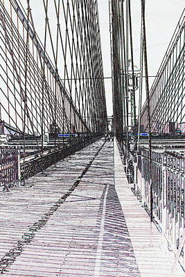 Brooklyn Bridge Abstract I Poster by Christiane Schulze Art And Photography