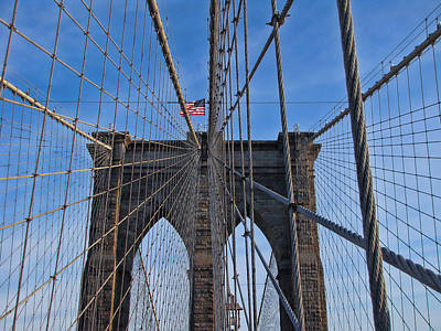 Poster featuring the photograph Brooklyn Bridge by David Gleeson