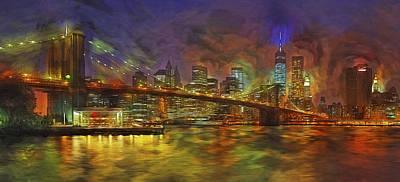 Brooklyn Bridge Impressionism Poster by Susan Candelario