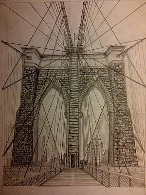 Brooklyn Bridge Poster by Irving Starr