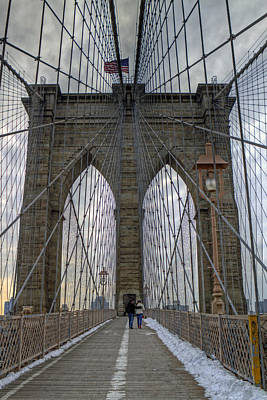 Poster featuring the photograph Brooklyn Bridge by Jerry Gammon