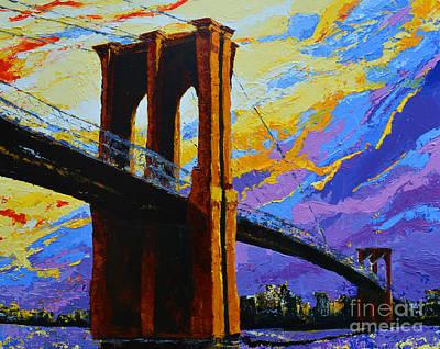 Brooklyn Bridge New York Landmark Poster