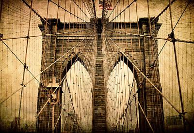 Brooklyn Bridge Nostalgia Poster by Jessica Jenney