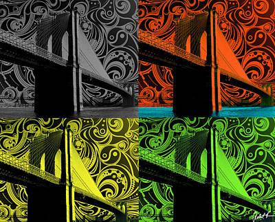 Brooklyn Bridge Nyc Starry Night Poster